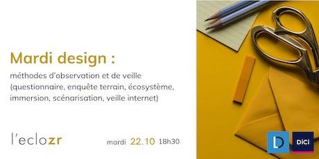 Mardi Design : méthodes d'observation et de veille billets