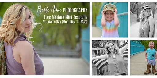 Belle Amie Photography's FREE Veteran's Day Military Mini Sessions