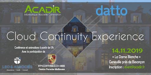 ACADIR Cloud Continuity Experience - Assurez la pérennité et développez votre entreprise grâce aux solutions Cloud Nouvelle Génération