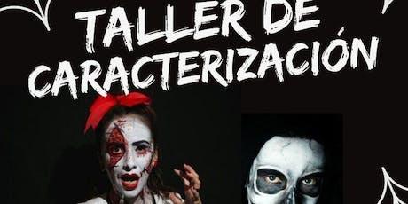 Taller caracterización de Halloween entradas