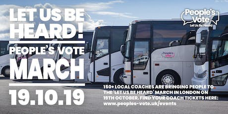Coach from Chester to People's Vote March for the Future tickets