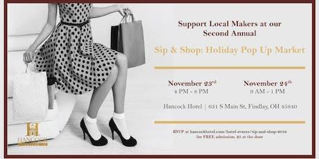 2019 Sip & Shop Holiday Vendor Show tickets