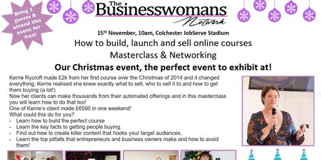 Big Christmas Shopping Event & How to build, launch and sell online courses tickets
