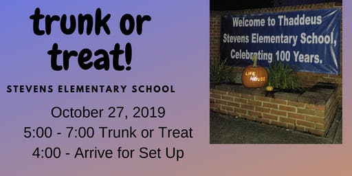 Trunk or Treat at Stevens Elementary School