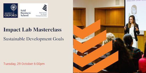 Impact Lab Masterclass: Sustainable Development Goals