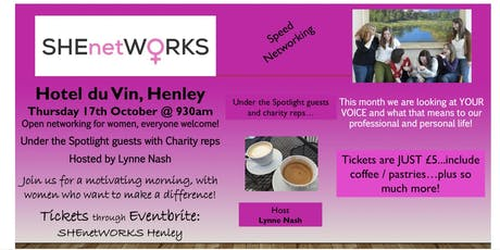 SHEnetWORKS Networking for women in Henley - on - Thames tickets