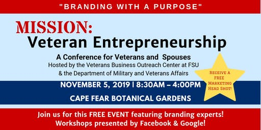 "Mission: Veteran Entrepreneurship - ""Branding with a Purpose"" FREE EVENT"