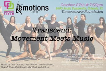 Transcend: Movement Meets Music. Presented by CF2 and Emotions Dance tickets