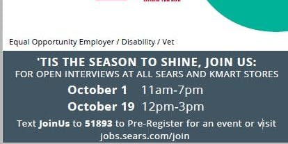 Sears National Hiring Day! Barboursville, WV