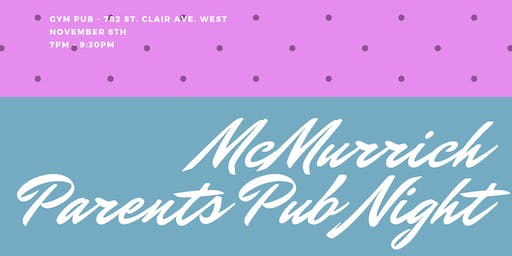 McMurrich Parents Pub Night