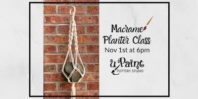 Macrame Planter Class