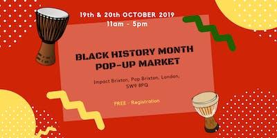 Black History Pop - Up Market