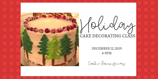 Holiday Cake Decorating Class