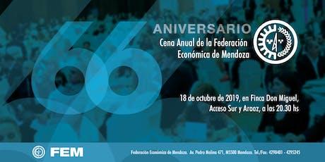 66° Aniversario de la Federación Económica de Mendoza entradas