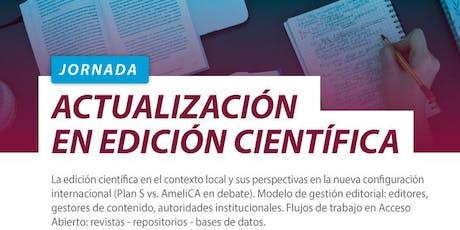Jornada de Actualización en Edición Científica entradas
