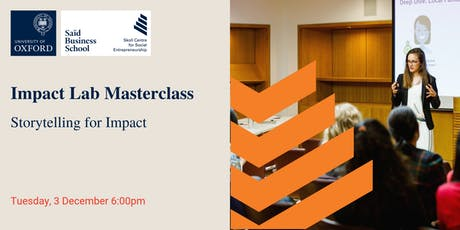 Impact Lab Masterclass: Storytelling for Impact tickets