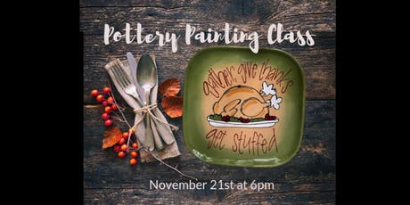 Pottery Painting Class - November tickets