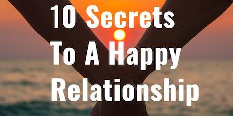 Free Seminar: 10 Secrets To A Happy Relationship billets