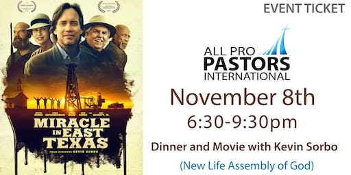 11/08/19 - Pastors Date Night Out! Dinner and Movie with Kevin Sorbo