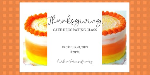 Thanksgiving Cake Decorating Class