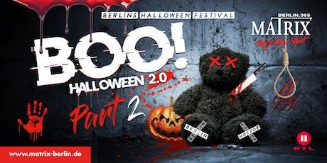 BOO! Halloween Festival Berlin - Part 2 I Fr. 01. Nov 2019 Tickets