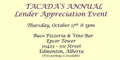 Tacada's Annual Lender Appreciation Event