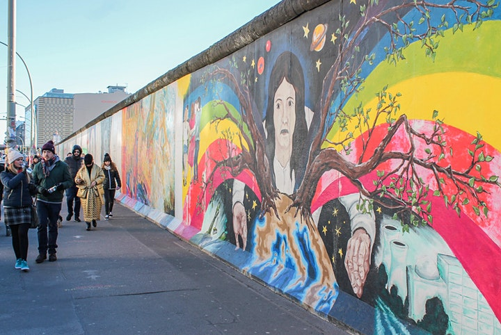Tandem-Führungen an der East Side Gallery: Bild