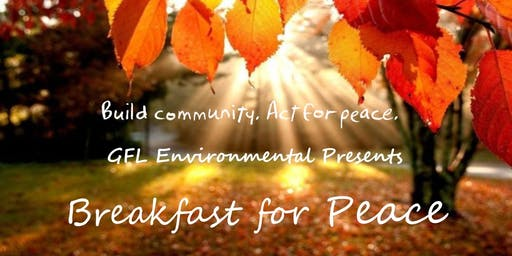 GFL Environmental Breakfast for Peace Hosted by the YMCA and Kiwanis