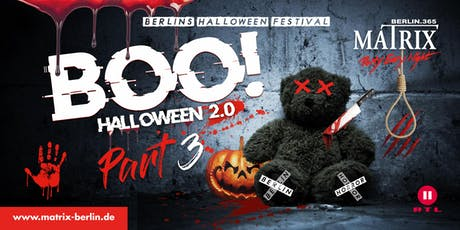 BOO! Halloween Festival Berlin - Part 3 The Final! I Sa. 02. Nov. 2019 Tickets