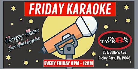Friday Karaoke at R Park Tavern (Ridley Park | Delaware County, PA) tickets
