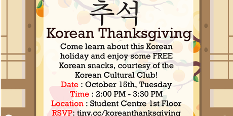 Korean Thanksgiving (Chuseok) tickets