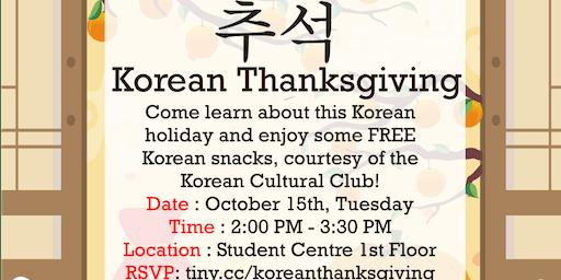 Korean Thanksgiving (Chuseok)