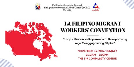 1st FILIPINO MIGRANT WORKERS' CONVENTION tickets