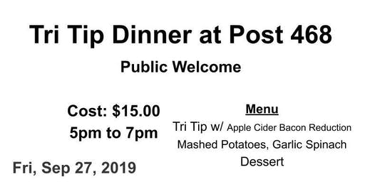 27 SEP Tri tip Dinner