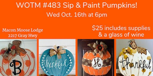 Sip and Paint Pumpkins