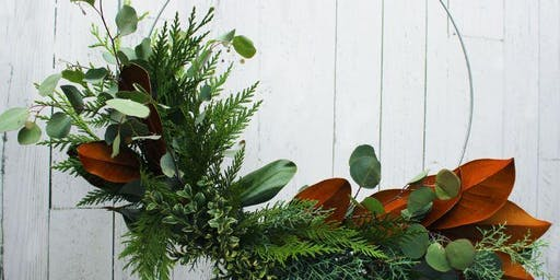 Fragrant Winter Ring Wreath Workshop