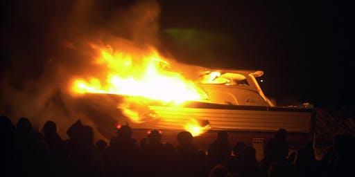 Halloween Boat Burning