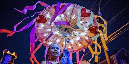 Illuminated Parasols for the Hilton Head Island Lantern Parade