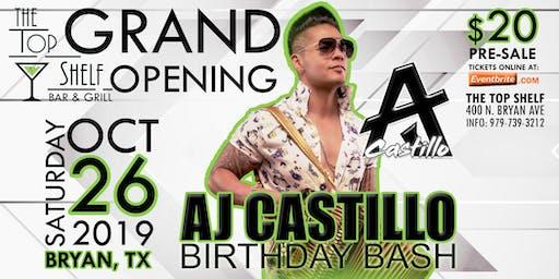AJ Castillo - The Top Shelf Grand Opening - Bryan, TX