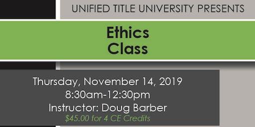 Woodland Park - Ethics Class