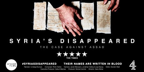 Syria's Disappeared: The Case against Assad tickets