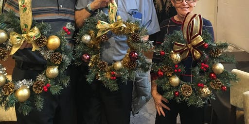 Decorating a Christmas Wreath workshop