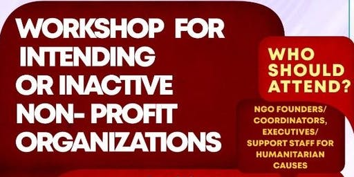 Workshop for Intending or non-active NGOs