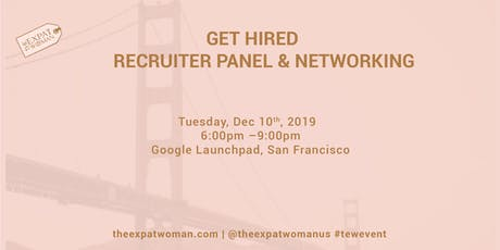 Get Hired! Recruiter Panel and Networking tickets