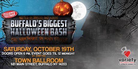 "BUFFALO'S BIGGEST HALLOWEEN BASH ""THE NIGHTMARE ON MAIN STREET"" tickets"