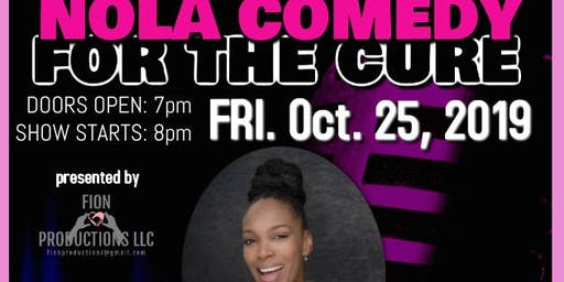 BRAND AMBASSADORS for NOLA Comedy for the Cure starring Algiers Diamond