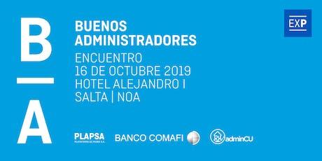 "Buenos Administradores - ""El desafío de Administrar"", NOA 2019 entradas"