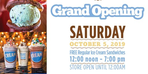 CREAM (ICE CREAM) WEST PALM BEACH NEW LOCATION GRAND OPENING