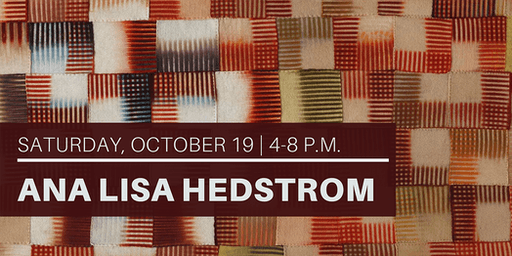 3rd Saturday Reception: SCG Artist in Residence Ana Lisa Hedstrom