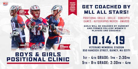 Boston Cannons Positional Clinics-Attack, Goalies, Defense tickets